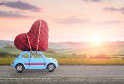 Auto mit Herz